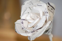 Paper rose from the side royalty free stock images