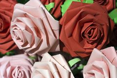 Paper roses Royalty Free Stock Photography