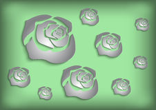 Paper roses background Royalty Free Stock Photo