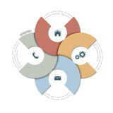 Paper round design template for infographics and website templat Royalty Free Stock Photography