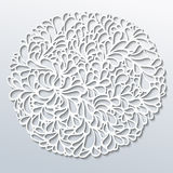 Paper round pattern Royalty Free Stock Photo