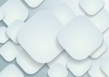 Paper Rounded Rectangles Background Stock Image