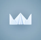 Paper royal crown. Handicraft toy Stock Photo