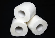 paper rulltoalett Arkivbilder