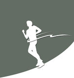 Paper runner silhouette with finish stripe Royalty Free Stock Images
