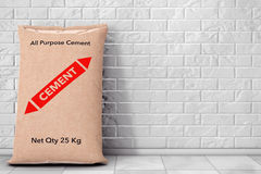 Paper Sacks Cement Bag. 3d Rendering Stock Photos