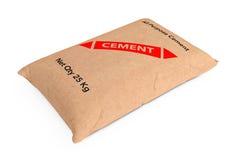 Paper Sacks Cement Bag. 3d Rendering Stock Image