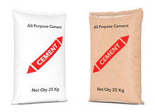Paper Sacks Cement Bags. 3d Rendering Royalty Free Stock Photos