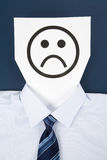Paper Sad Face Stock Images