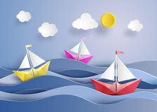 Paper sailing boat Royalty Free Stock Image
