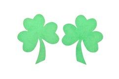 Paper Saint Patrick's shamrocks decoration Royalty Free Stock Photo