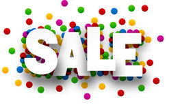 Paper sale confetti sign Royalty Free Stock Photo