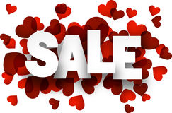 Paper sale love sign. Royalty Free Stock Images