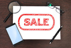 Paper with sale Royalty Free Stock Images