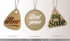 PAPER SALE TAGS Stock Photo