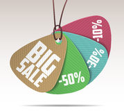 PAPER SALE TAGS Royalty Free Stock Photos