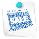 Paper sale ticket Stock Photo