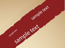 Paper sample text Stock Image