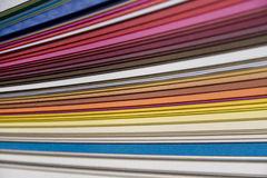 Paper sampler Stock Image