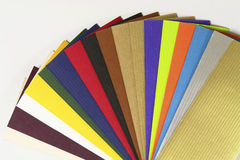 Paper Samples. Paper and color Samples (top view stock photos