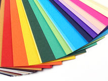 Paper samples for business cards Stock Images