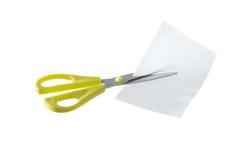 paper sax för cutting arkivbilder