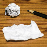 Paper scrap and crumpled with pencil Royalty Free Stock Images