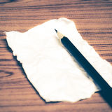 Paper scrap with pencil Royalty Free Stock Images
