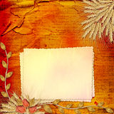 Paper in scrapbooking style with bunch of rose Royalty Free Stock Photography