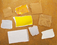 Paper scraps Royalty Free Stock Photos