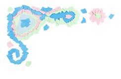 Paper scraps border. Decorative border element of pastel colored paper scraps Royalty Free Stock Photos