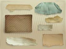 Paper scraps decorative vector illustration vector illustration