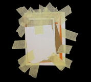 Paper scraps isolated on black Royalty Free Stock Images