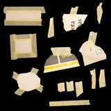 Paper scraps and masking tape Stock Images