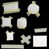 Paper scraps and masking tape isolated Stock Image