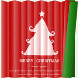 Paper screen tree. Christmas tree is symbol of christmas day Stock Photos