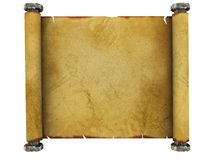 Paper scroll Royalty Free Stock Photos