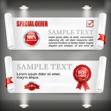 Paper scroll with award sign Royalty Free Stock Image