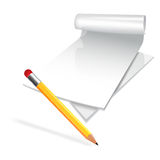 Paper scroll with pensil. Vector Stock Photos