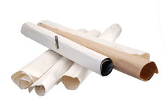 Paper Scrolls Royalty Free Stock Photography