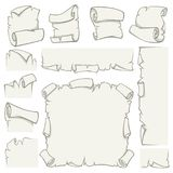 Paper scrolls of vector old papyrus sheets royalty free illustration