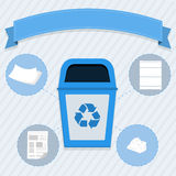 Paper selective collection royalty free illustration
