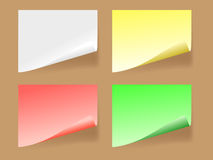 Paper of selfgluing. Coloured folias of paper of selfgluing. Vector Stock Images