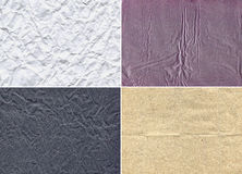 Paper Set. Four pieces of  real paper Royalty Free Stock Images