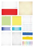 Paper set Royalty Free Stock Photography