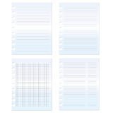 Paper set graph and lined  Stock Photography