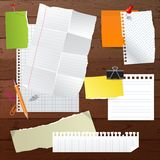 Paper set Stock Image