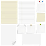 Paper Set. Vector Royalty Free Stock Images