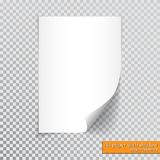 A4 paper with shadow design template, vector.  Stock Photography