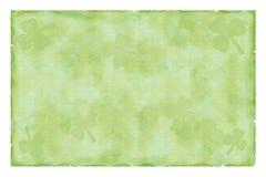 paper shamrocktappning för leaves Arkivbild
